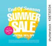end of season. summer sale.... | Shutterstock .eps vector #438730534