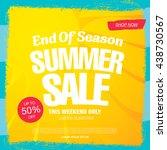 end of season. summer sale.... | Shutterstock .eps vector #438730567