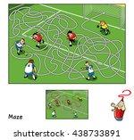 football match. educational... | Shutterstock .eps vector #438733891