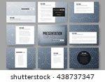 set of 9 vector templates for... | Shutterstock .eps vector #438737347
