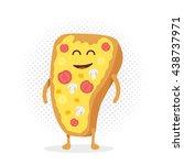 kids restaurant menu cardboard... | Shutterstock .eps vector #438737971