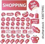 100  shopping. vector   Shutterstock .eps vector #43873981