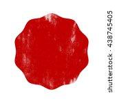 halftone label. grunge label.... | Shutterstock .eps vector #438745405