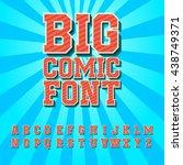 creative high detail comic font.... | Shutterstock .eps vector #438749371