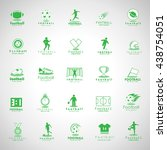 football icon set   isolated on ... | Shutterstock .eps vector #438754051