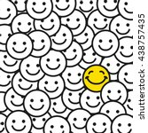 positive smile faces abstract... | Shutterstock .eps vector #438757435