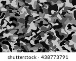 camouflage military background... | Shutterstock .eps vector #438773791