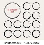 grunge circles.grunge round... | Shutterstock .eps vector #438776059