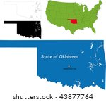 state of oklahoma  usa | Shutterstock . vector #43877764