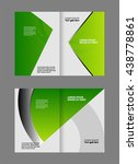 green brochure template  | Shutterstock .eps vector #438778861