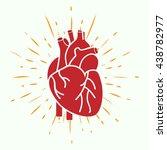 human heart | Shutterstock .eps vector #438782977