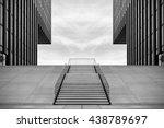 wide stairway between two... | Shutterstock . vector #438789697