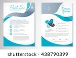 vector brochure flyer design... | Shutterstock .eps vector #438790399