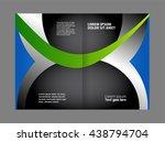 professional bi fold business... | Shutterstock .eps vector #438794704