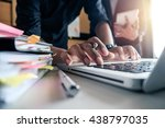 business documents on office... | Shutterstock . vector #438797035