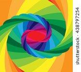 vector illustration.rainbow... | Shutterstock .eps vector #438797254