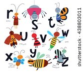vector alphabet for children.... | Shutterstock .eps vector #438803011