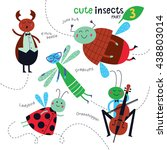 cute insects on a white... | Shutterstock .eps vector #438803014