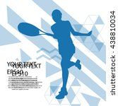 tennis player silhouette... | Shutterstock .eps vector #438810034