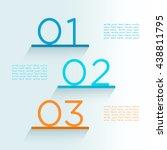 infographic steps on shelves... | Shutterstock .eps vector #438811795