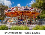 the carousel with the blue sky | Shutterstock . vector #438812281