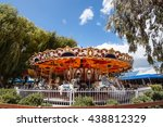 carousel with the blue skie | Shutterstock . vector #438812329