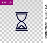 hourglass icon.  | Shutterstock .eps vector #438814165