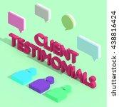 client testimonials   3d... | Shutterstock . vector #438816424