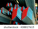 hot dip galvanized steel angles ... | Shutterstock . vector #438817615