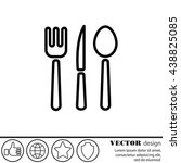 Web Line Icon. Cutlery  Spoon ...