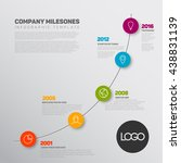 vector infographic timeline... | Shutterstock .eps vector #438831139