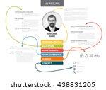 vector original minimalist cv   ...   Shutterstock .eps vector #438831205
