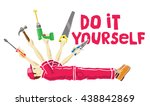 do it yourself concept  man as... | Shutterstock .eps vector #438842869