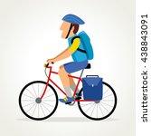 simple cartoon of a bike...   Shutterstock .eps vector #438843091
