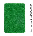 artificial grass isolated on... | Shutterstock . vector #438843205