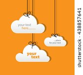 paper cloud tags orange | Shutterstock .eps vector #438857641