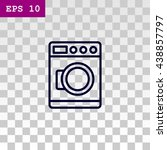 washing machine icon | Shutterstock .eps vector #438857797
