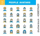 man s and women s characters... | Shutterstock . vector #438859609