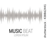 music beat. abstract audio...