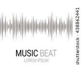 Music Beat. Abstract Audio...