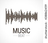 music beat. abstract audio... | Shutterstock .eps vector #438862459
