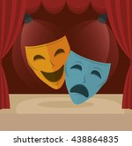 stagecraft concept design ... | Shutterstock .eps vector #438864835