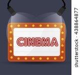 cinema entertainment design ... | Shutterstock .eps vector #438864877