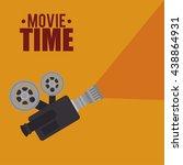 cinema entertainment design ... | Shutterstock .eps vector #438864931