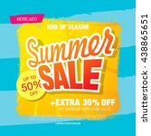 summer sale. vector template... | Shutterstock .eps vector #438865651