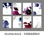 abstract background. geometric... | Shutterstock .eps vector #438868864