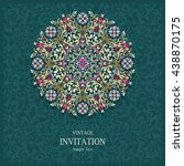 wedding invitation or card with ... | Shutterstock .eps vector #438870175