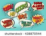 set of retro comic bubbles pop... | Shutterstock .eps vector #438870544
