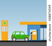petrol station. the car at the... | Shutterstock .eps vector #438874549