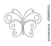 butterfly icon  outline style | Shutterstock .eps vector #438889921